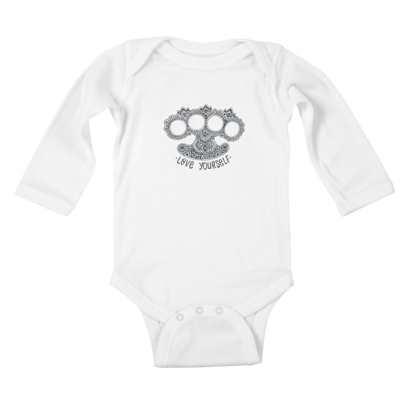 Love yourself Kids Baby Longsleeve Bodysuit by oleggert's Artist Shop