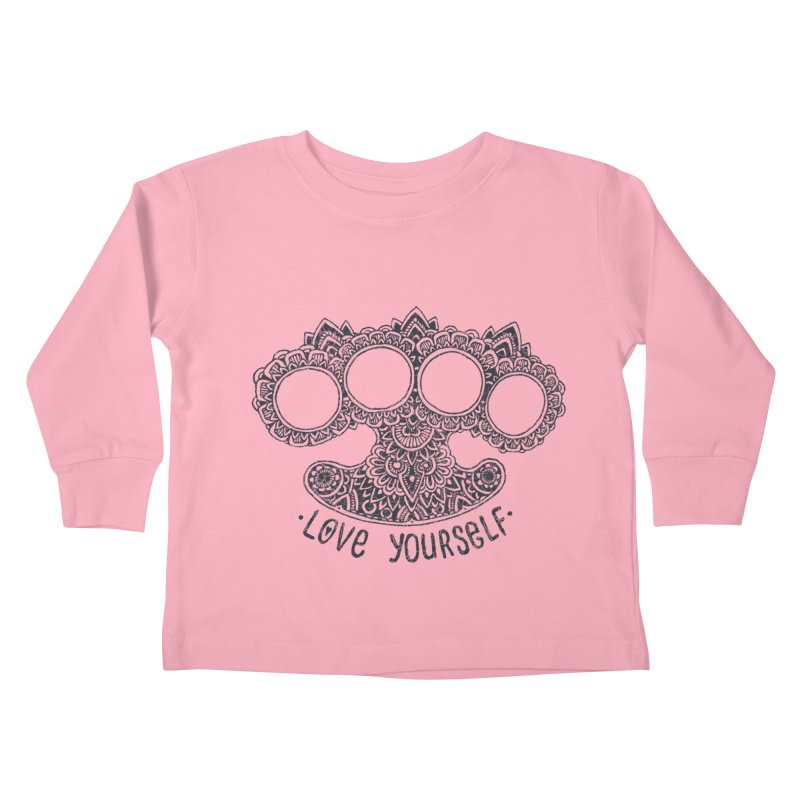 Love yourself Kids Toddler Longsleeve T-Shirt by oleggert's Artist Shop