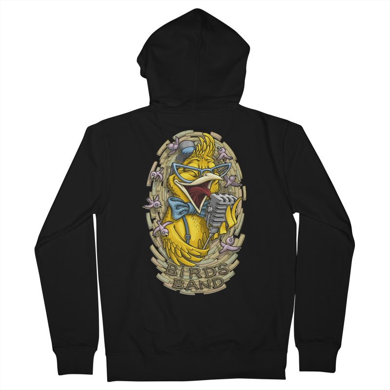 Birds band Men's Zip-Up Hoody by oleggert's Artist Shop