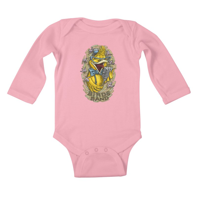Birds band Kids Baby Longsleeve Bodysuit by oleggert's Artist Shop