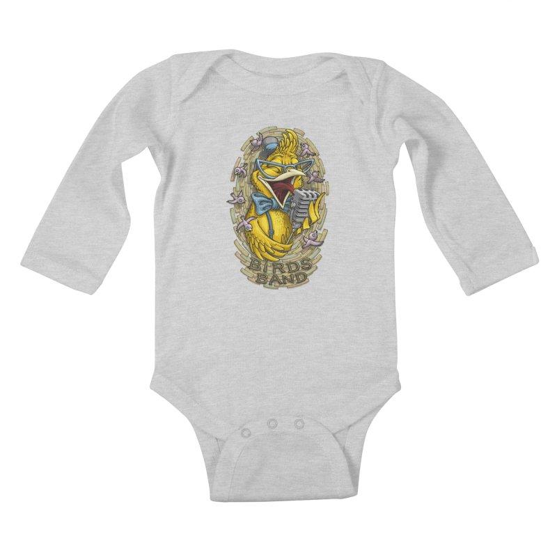 Birds band Kids Baby Longsleeve Bodysuit by oleggert's Artist Shop