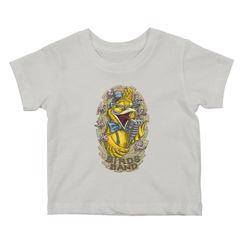 Birds band Kids Baby T-Shirt by oleggert's Artist Shop