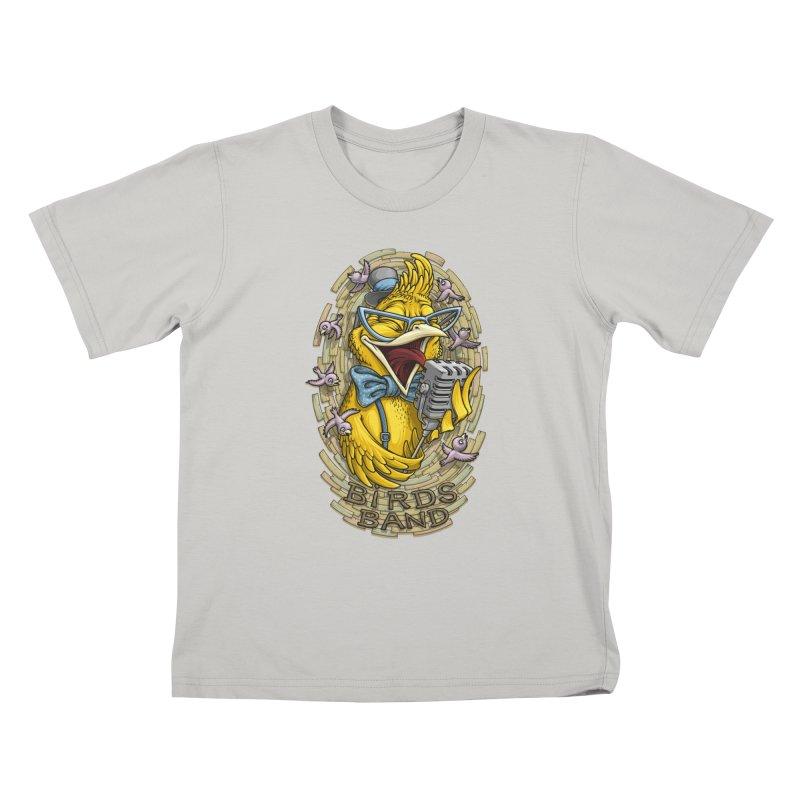 Birds band Kids T-Shirt by oleggert's Artist Shop