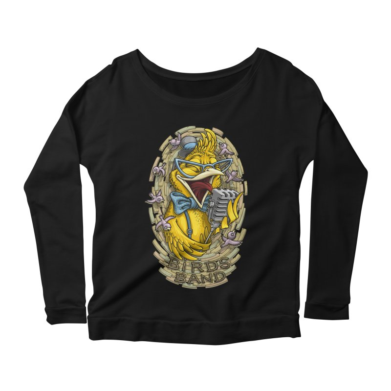 Birds band Women's Longsleeve Scoopneck  by oleggert's Artist Shop