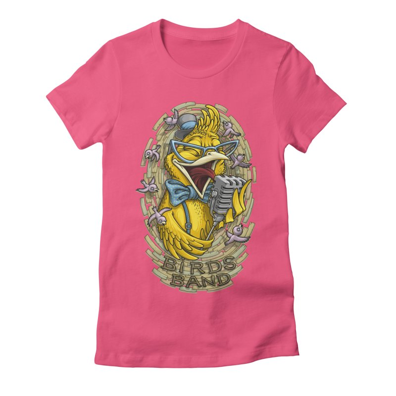 Birds band Women's Fitted T-Shirt by oleggert's Artist Shop