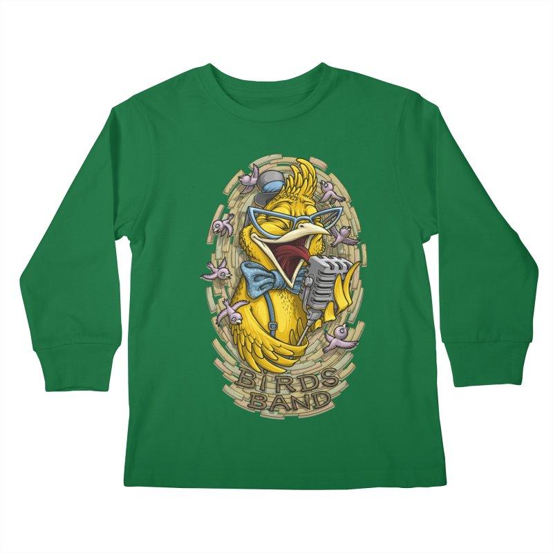 Birds band Kids Longsleeve T-Shirt by oleggert's Artist Shop
