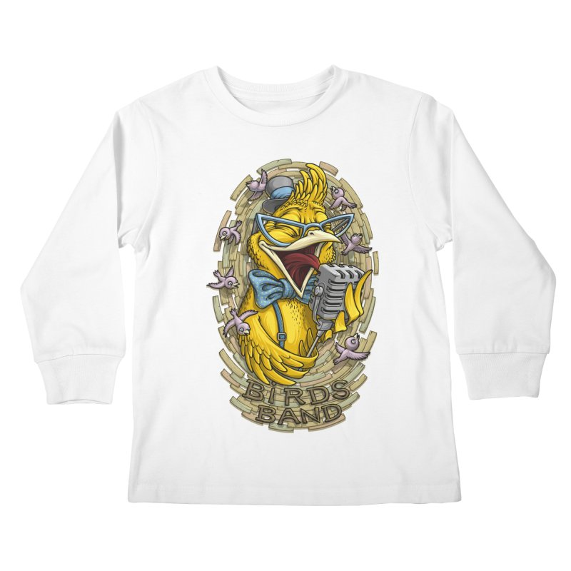 Birds band Kids Longsleeve T-Shirt by oleggert's Artist Shop