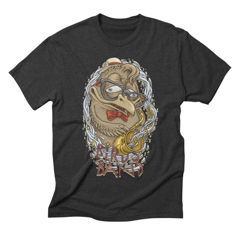Birds band 2 Men's Triblend T-shirt by oleggert's Artist Shop