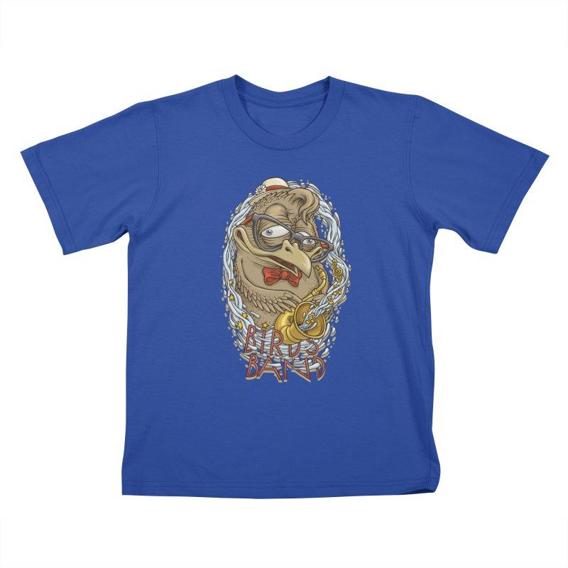 Birds band 2 Kids T-Shirt by oleggert's Artist Shop
