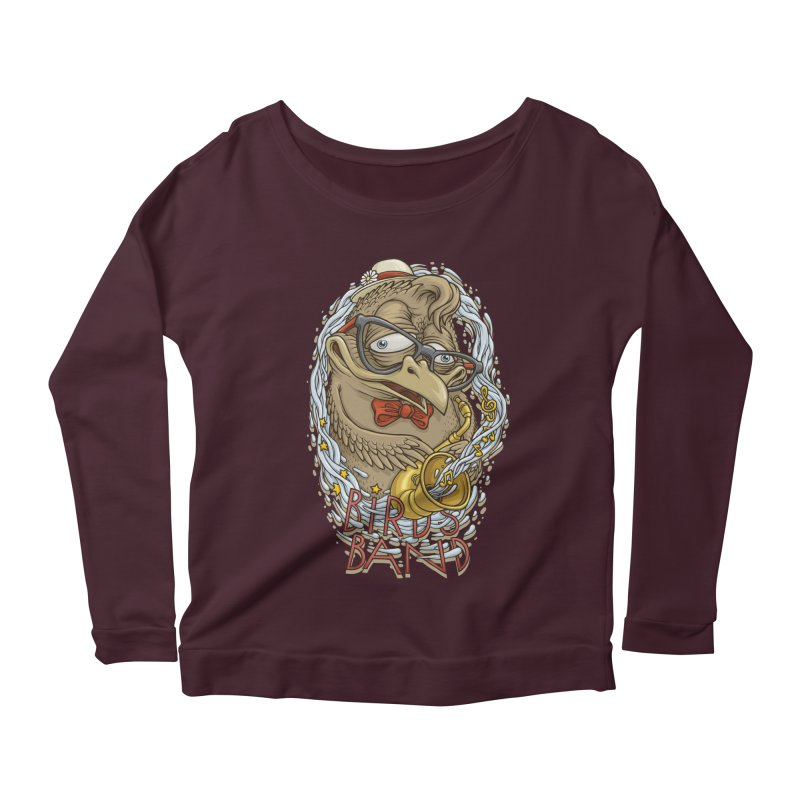 Birds band 2 Women's Longsleeve Scoopneck  by oleggert's Artist Shop