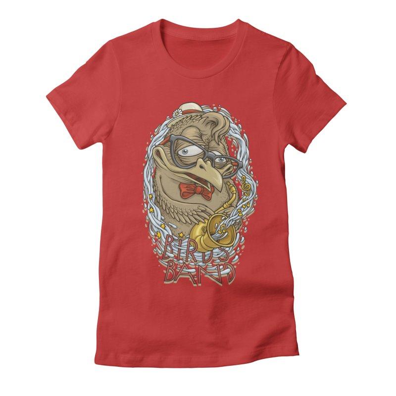 Birds band 2 Women's Fitted T-Shirt by oleggert's Artist Shop