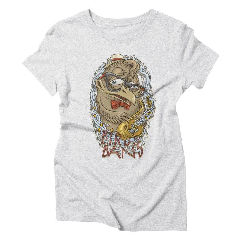 Birds band 2 Women's Triblend T-shirt by oleggert's Artist Shop