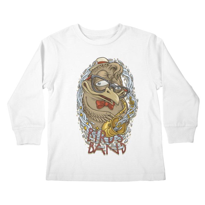 Birds band 2 Kids Longsleeve T-Shirt by oleggert's Artist Shop