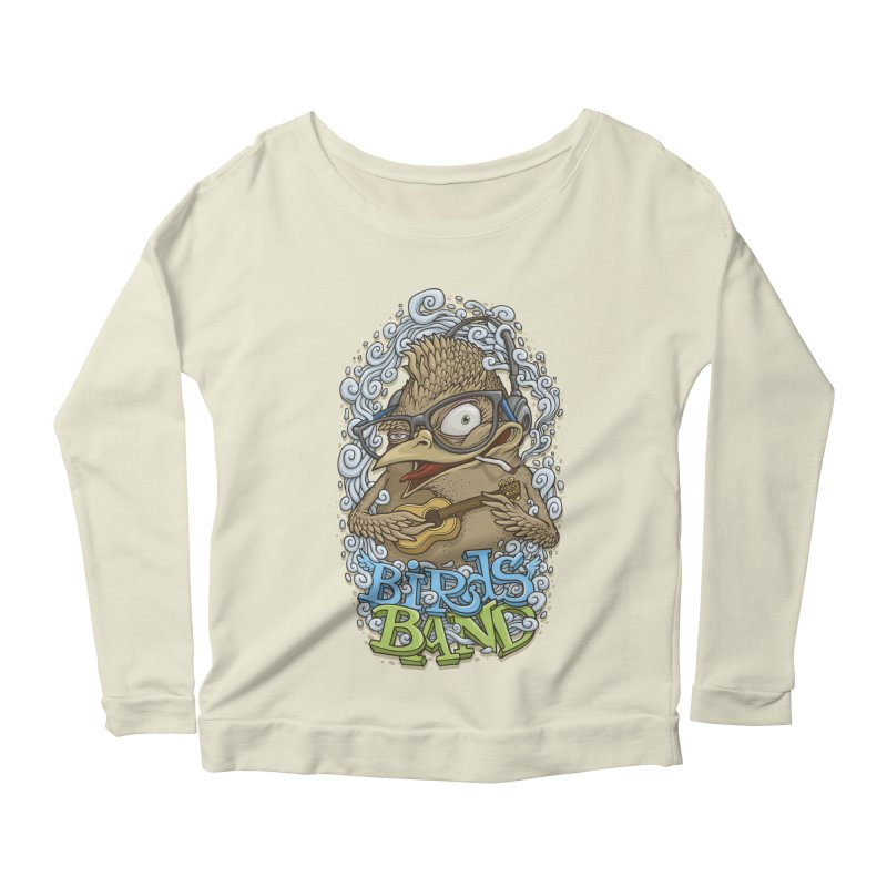 Birds band 3 Women's Longsleeve Scoopneck  by oleggert's Artist Shop