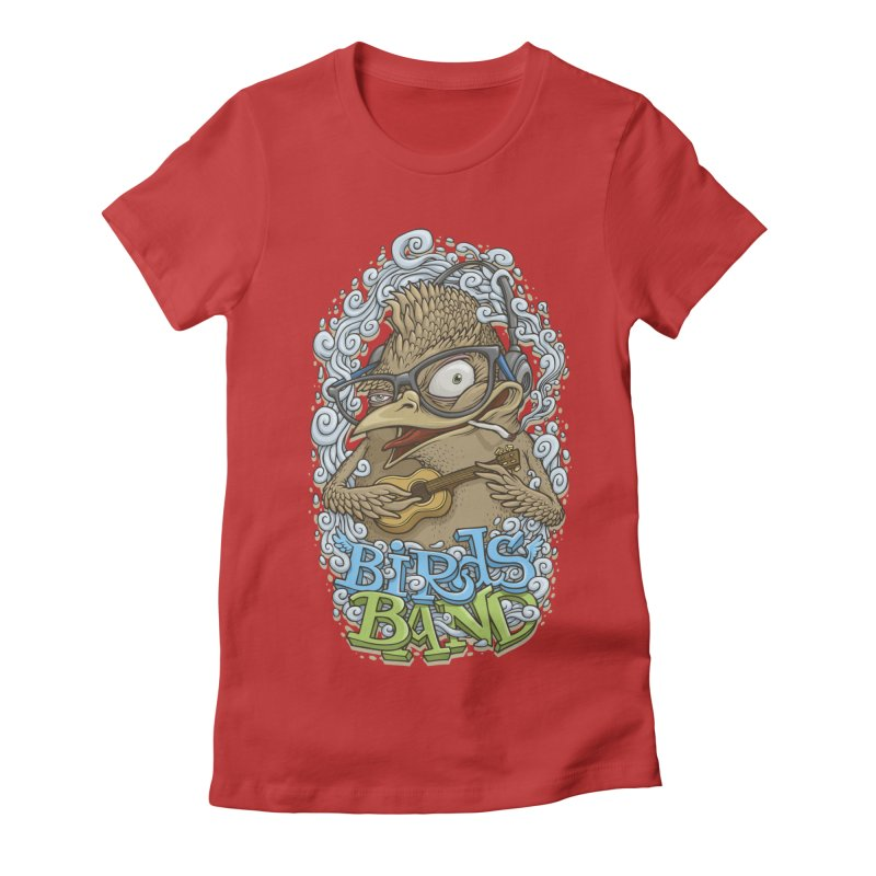 Birds band 3 Women's Fitted T-Shirt by oleggert's Artist Shop