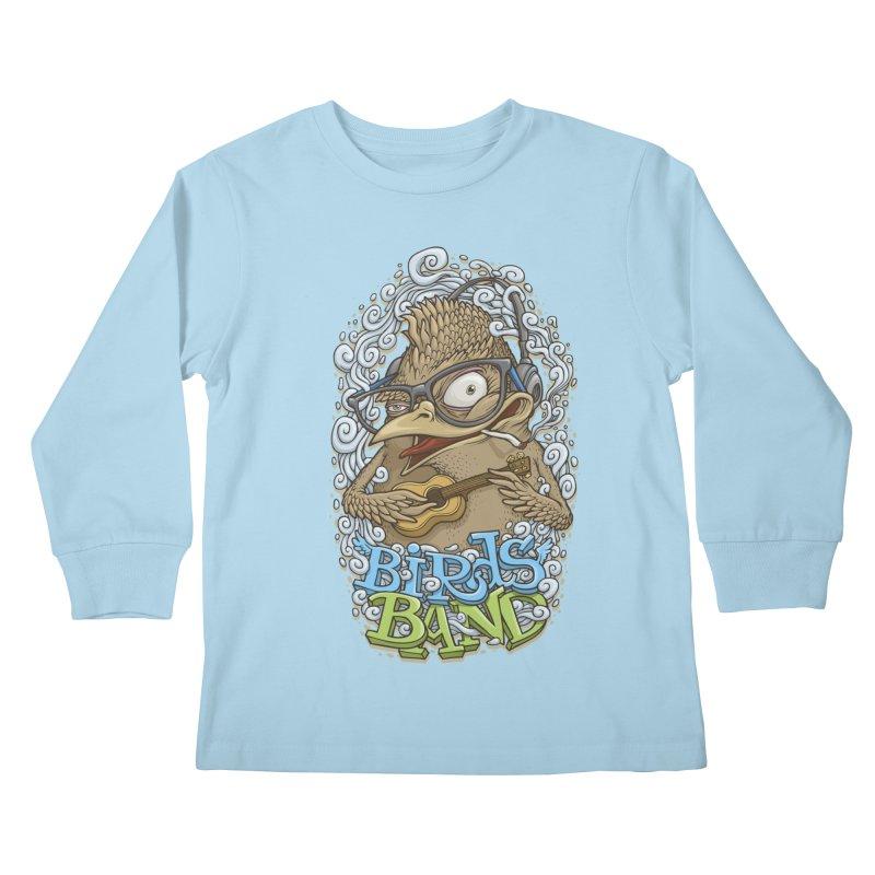 Birds band 3 Kids Longsleeve T-Shirt by oleggert's Artist Shop