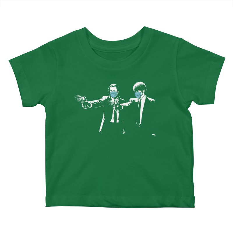 Covid Fiction Kids Baby T-Shirt by Olipop Art & Design Shop