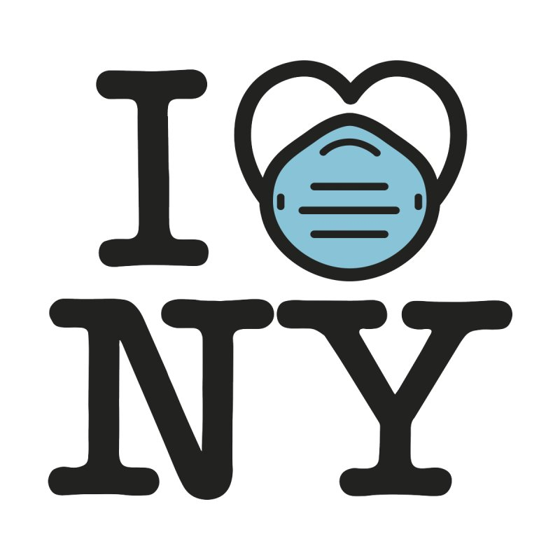 I Love NY Covid Free Home Blanket by Olipop Art & Design Shop