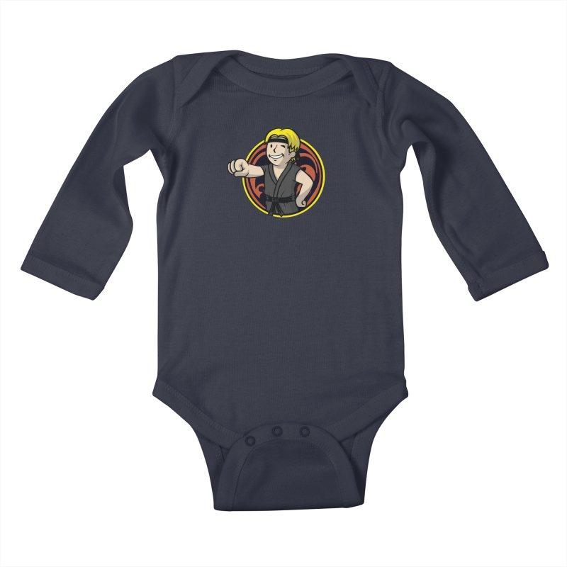 Cobra Boy Kids Baby Longsleeve Bodysuit by Olipop Art & Design Shop