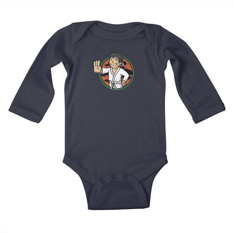 Karate Boy Kids Baby Longsleeve Bodysuit by Olipop Art & Design Shop
