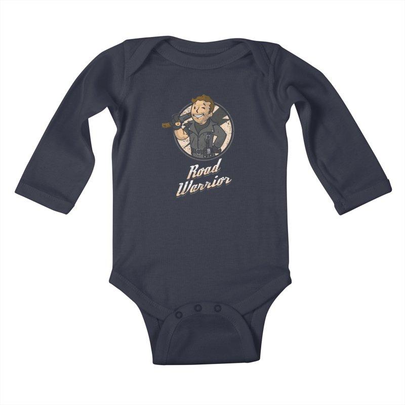 Warrior of the Road Kids Baby Longsleeve Bodysuit by Olipop Art & Design Shop