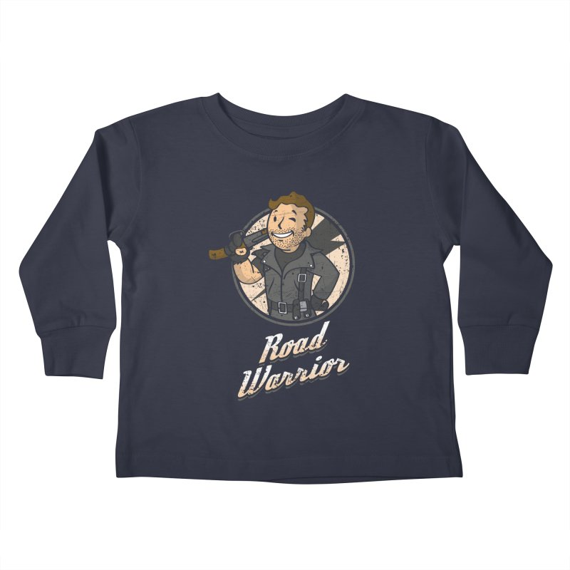 Warrior of the Road Kids Toddler Longsleeve T-Shirt by Olipop Art & Design Shop