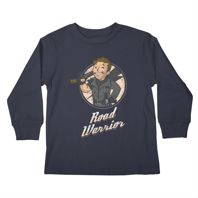 Warrior of the Road Kids Longsleeve T-Shirt by Olipop Art & Design Shop