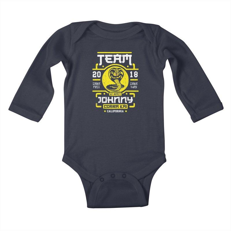 Team Johnny Kids Baby Longsleeve Bodysuit by Olipop Art & Design Shop