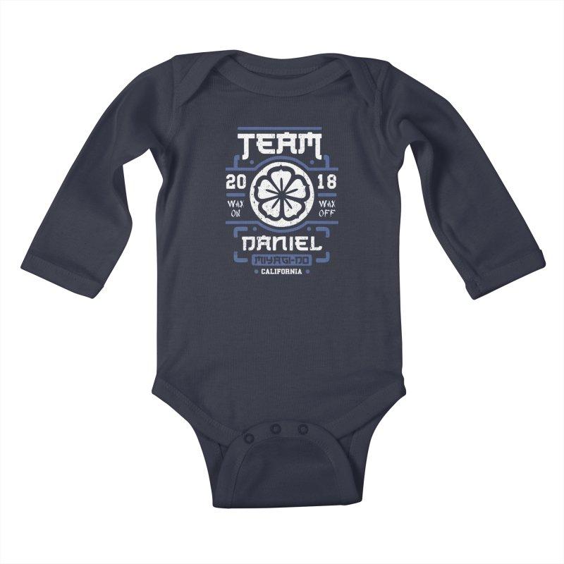 Team Daniel Kids Baby Longsleeve Bodysuit by Olipop Art & Design Shop