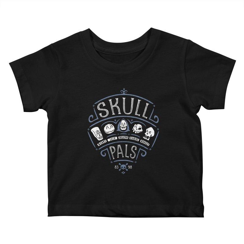Skull Pals Kids Baby T-Shirt by Olipop Art & Design Shop