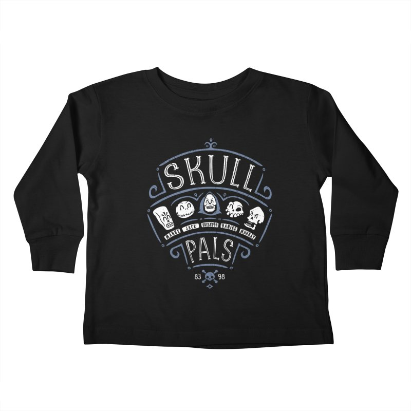 Skull Pals Kids Toddler Longsleeve T-Shirt by Olipop Art & Design Shop