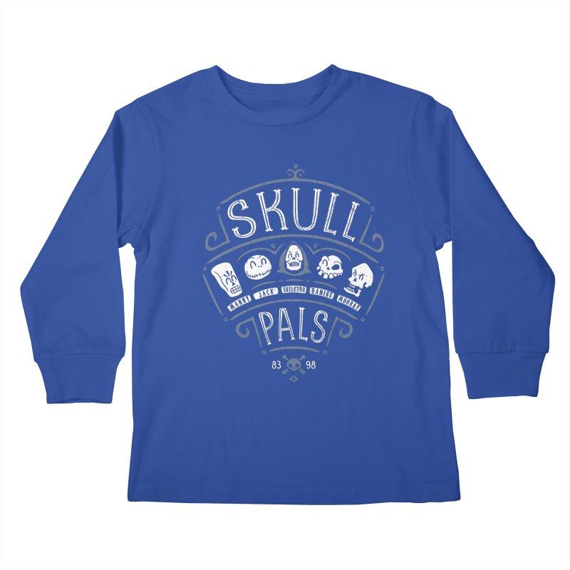 Skull Pals Kids Longsleeve T-Shirt by Olipop Art & Design Shop