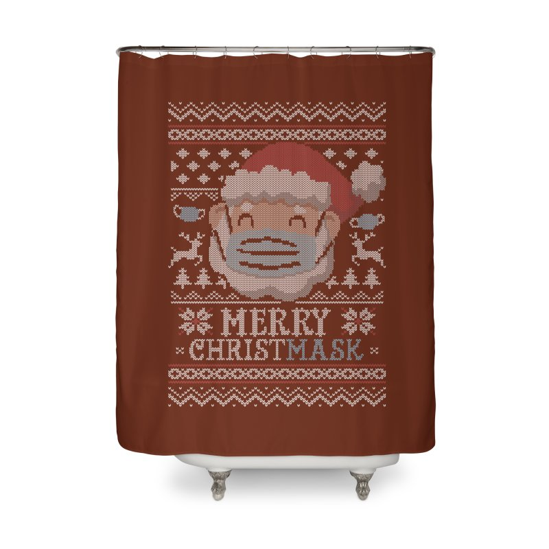 Ugly Christmask Sweater Home Shower Curtain by Olipop Art & Design Shop