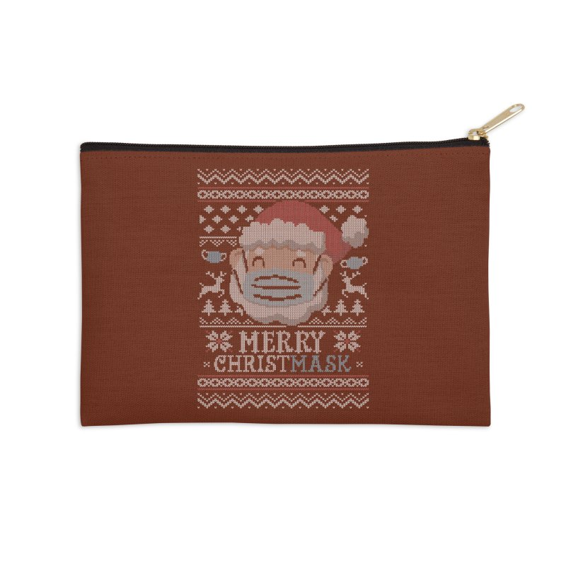 Ugly Christmask Sweater Accessories Zip Pouch by Olipop Art & Design Shop