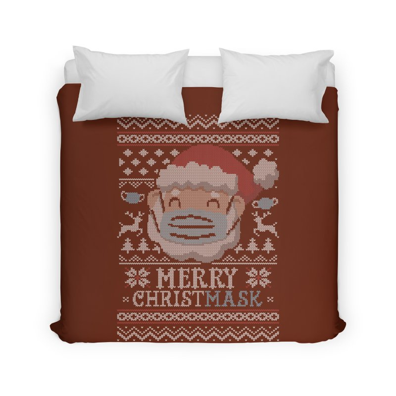 Ugly Christmask Sweater Home Duvet by Olipop Art & Design Shop