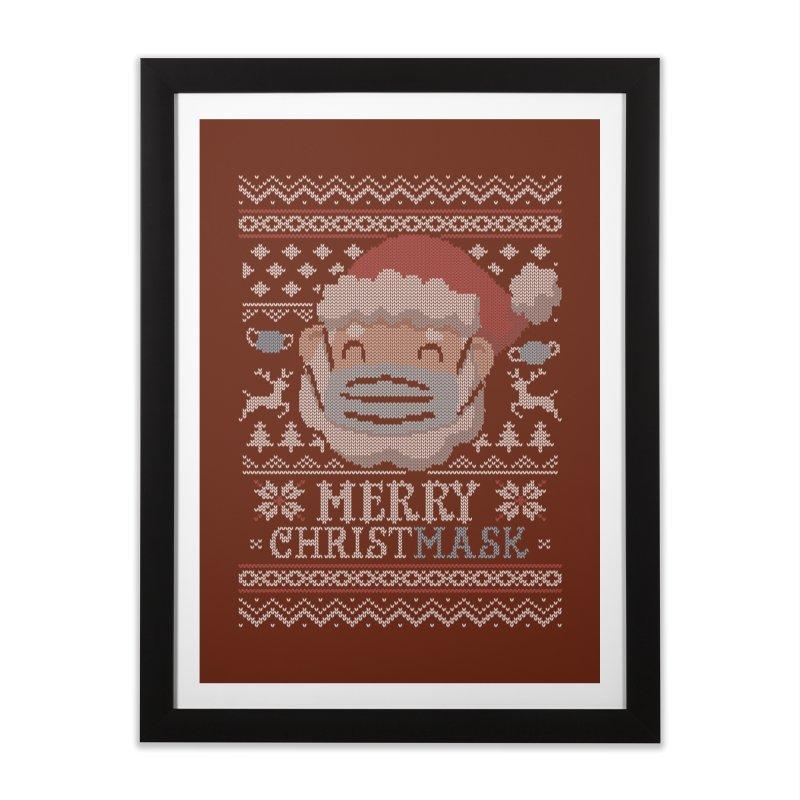 Ugly Christmask Sweater Home Framed Fine Art Print by Olipop Art & Design Shop