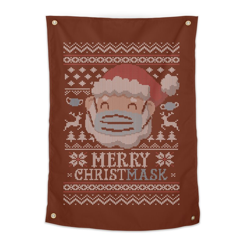 Ugly Christmask Sweater Home Tapestry by Olipop Art & Design Shop