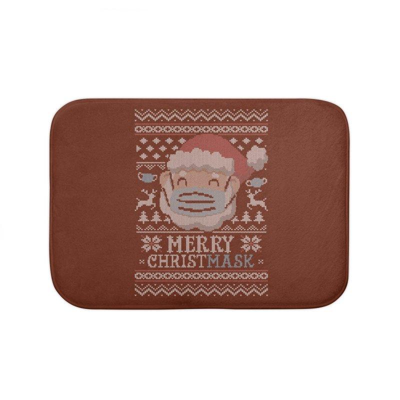 Ugly Christmask Sweater Home Bath Mat by Olipop Art & Design Shop
