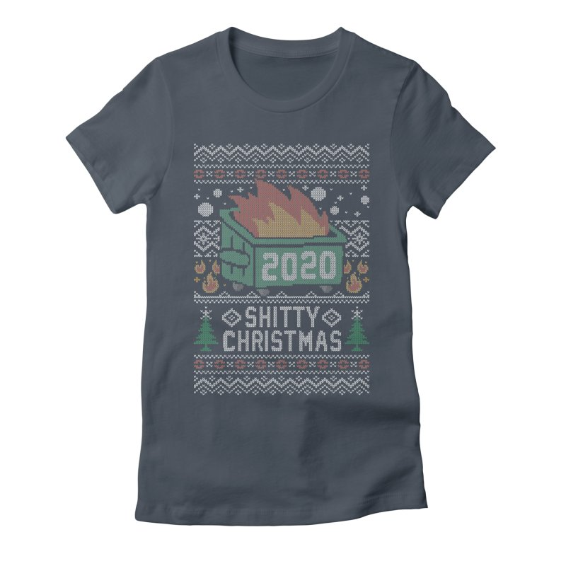 Ugly Shitty Christmas Sweater Women's T-Shirt by Olipop Art & Design Shop