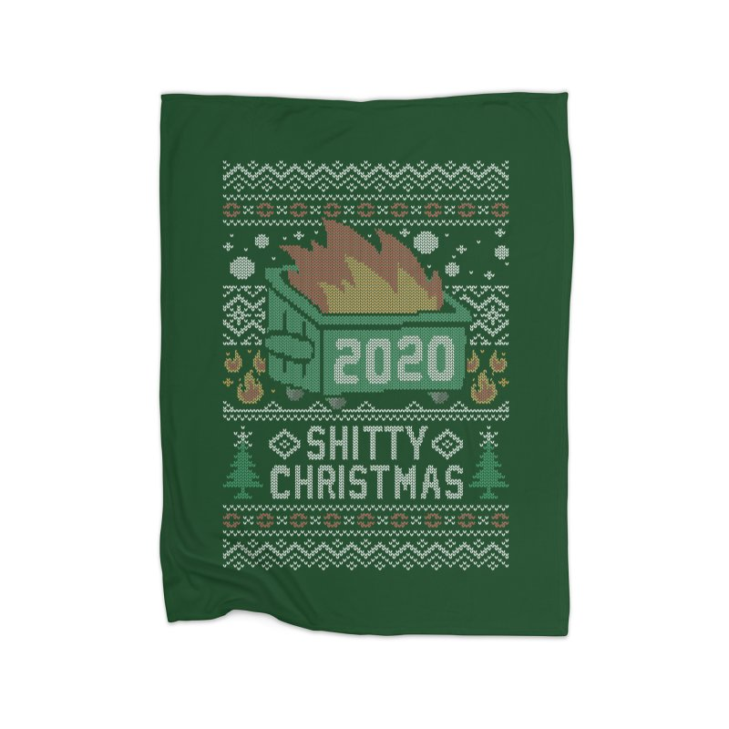 Ugly Shitty Christmas Sweater Home Blanket by Olipop Art & Design Shop