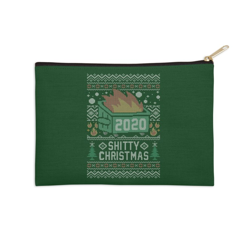Ugly Shitty Christmas Sweater Accessories Zip Pouch by Olipop Art & Design Shop