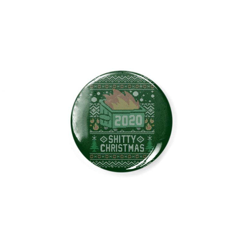 Ugly Shitty Christmas Sweater Accessories Button by Olipop Art & Design Shop