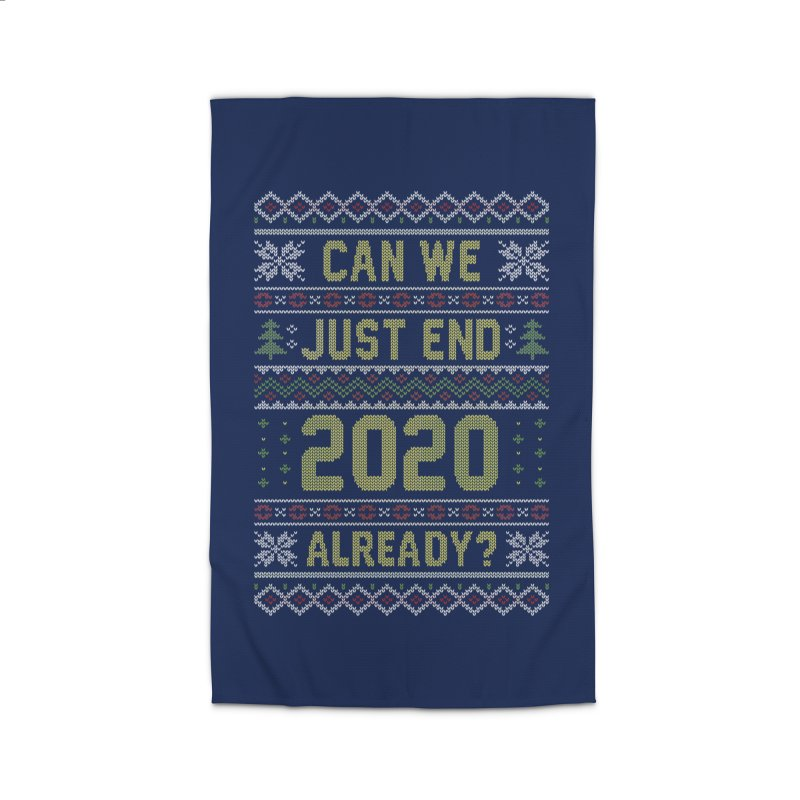 Can we End 2020 Ugly Christmas Sweater Home Rug by Olipop Art & Design Shop