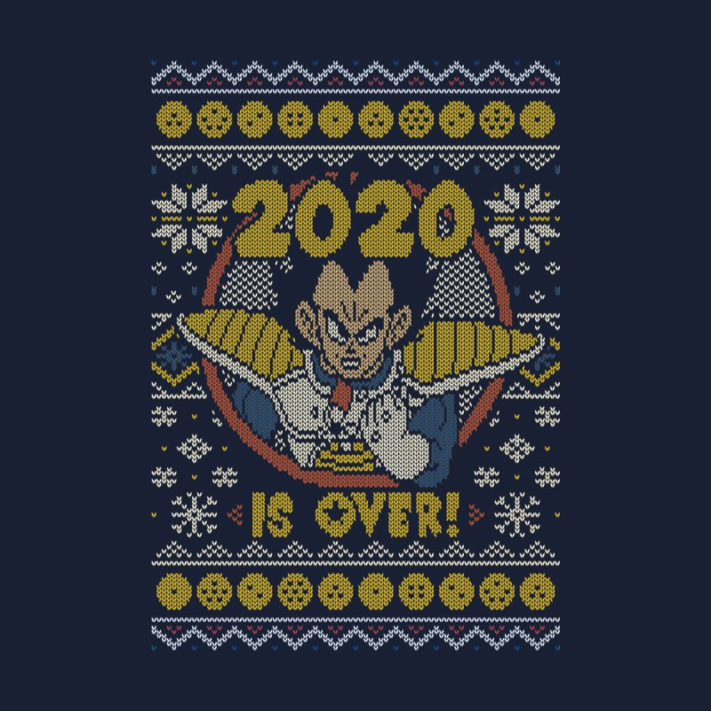 2020 is Over Ugly Anime Sweater Accessories Beach Towel by Olipop Art & Design Shop