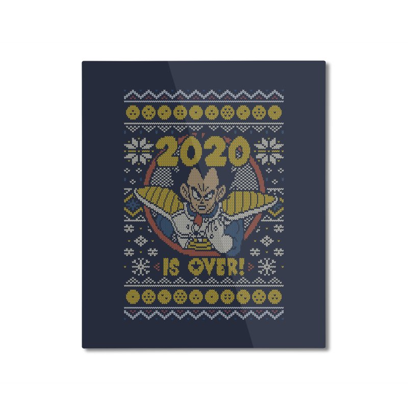2020 is Over Ugly Anime Sweater Home Mounted Aluminum Print by Olipop Art & Design Shop