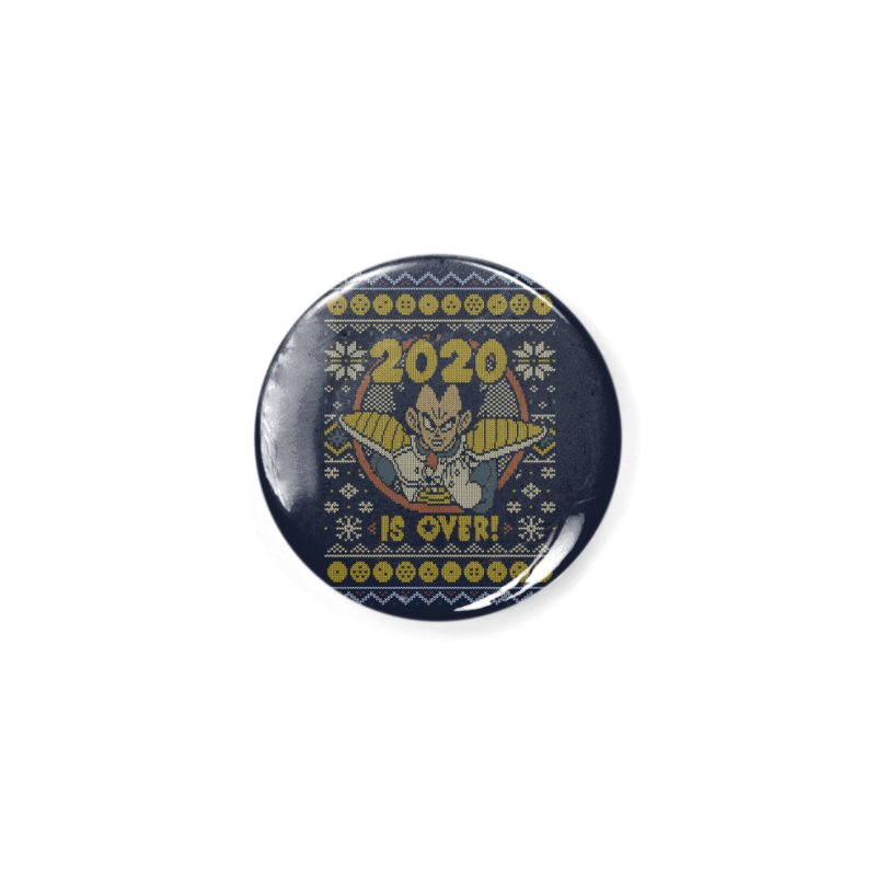 2020 is Over Ugly Anime Sweater Accessories Button by Olipop Art & Design Shop