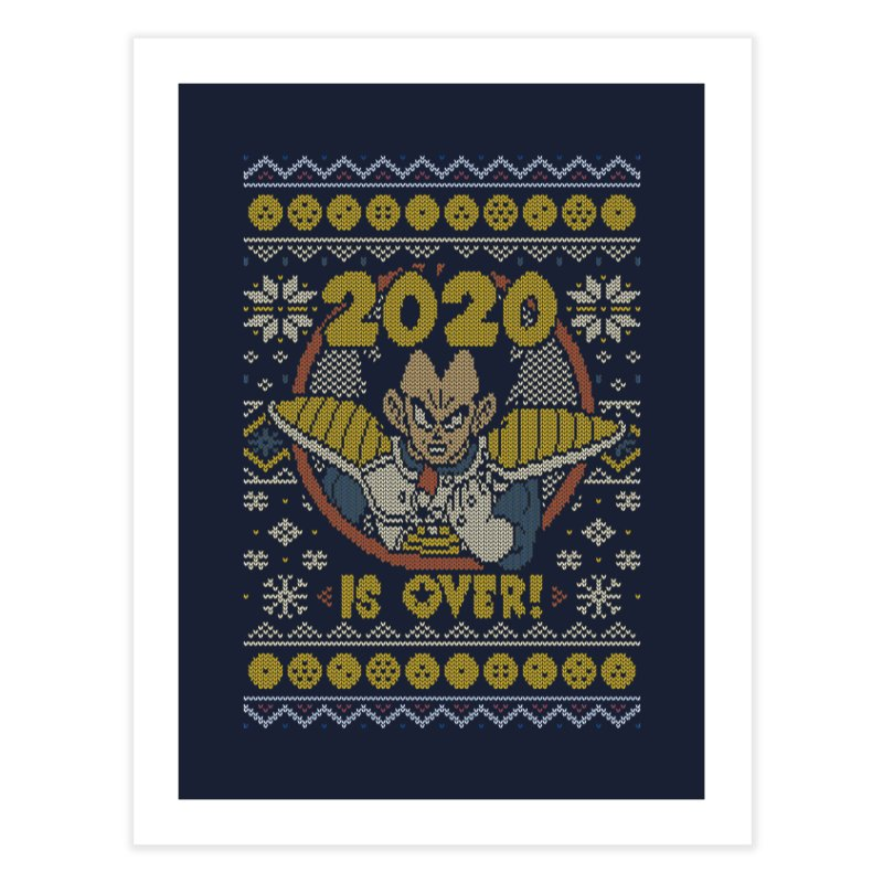 2020 is Over Ugly Anime Sweater Home Fine Art Print by Olipop Art & Design Shop