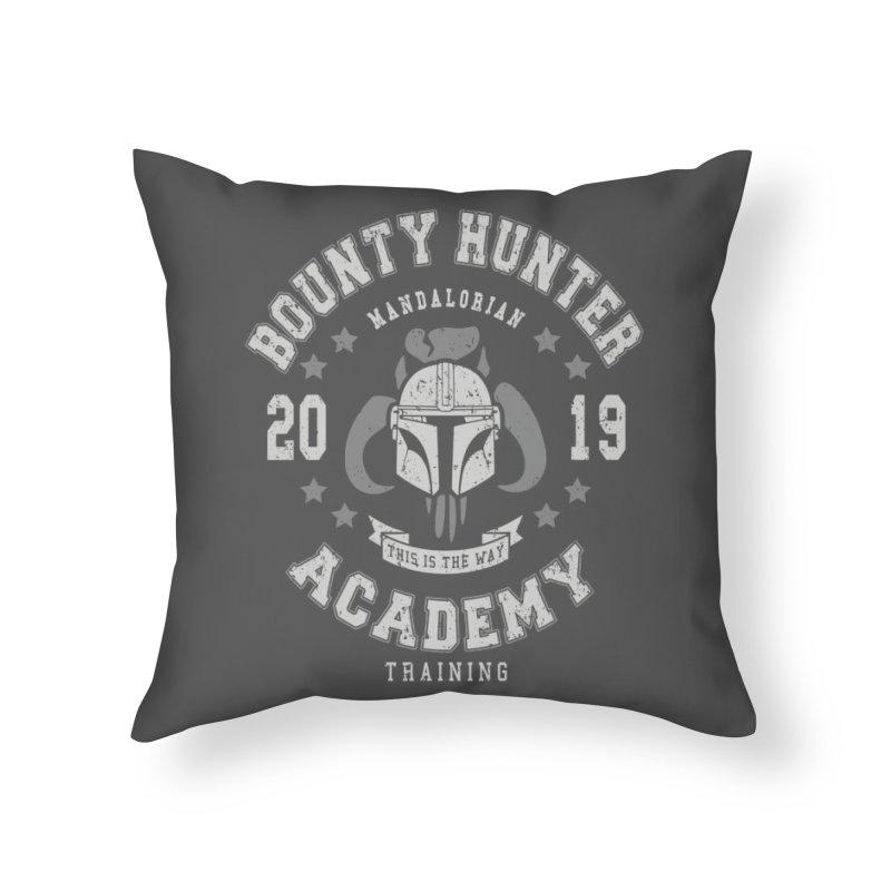 Bounty Hunter Academy 19 Home Throw Pillow by Olipop Art & Design Shop