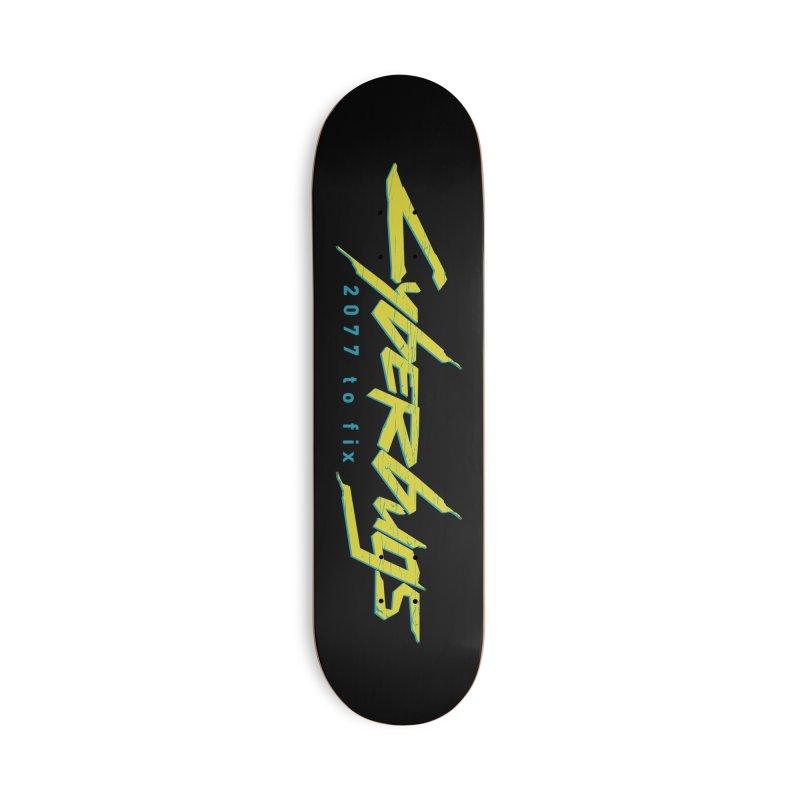 Cyberbugs Accessories Skateboard by Olipop Art & Design Shop