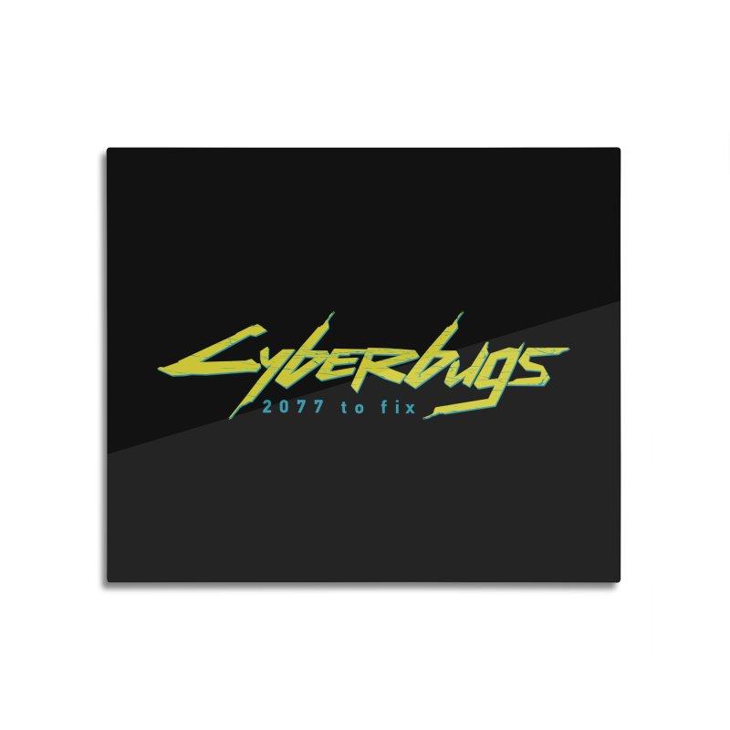Cyberbugs Home Mounted Aluminum Print by Olipop Art & Design Shop